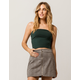 BOZZOLO Dark Green Womens Tube Top