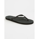 RAINBOW Narrow Strap Black Womens Sandals