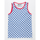 BROOKLYN CLOTH Checkered Blue & White Boys Tank Top