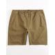 BRIXTON Madrid Dark Khaki Mens Shorts
