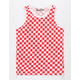 BROOKLYN CLOTH Checkered Red Boys Tank Top