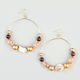 FULL TILT Beaded Wire Hoop Earrings