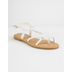 DEL MAR Braided Cross Strap White Womens Sandals