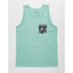 RIP CURL Mack Heritage Green Mens Pocket Tank Top