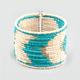 FULL TILT Seed Bead Chevron Cuff Bracelet