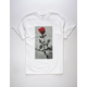 LA FAMILIA Concrete Rose White Mens T-Shirt