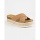 SODA Espadrille Tan Womens Platform Sandals
