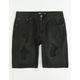 RSQ Black Decon Boys Ripped Denim Shorts