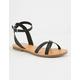 SODA Cross Strap Ankle Wrap Black Womens Sandals