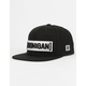 HOONIGAN Censor Bar Black Mens Snapback Hat