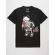 RIOT SOCIETY Panda Skeleton Rose Bubbles Mens T-Shirt
