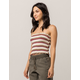 SKY AND SPARROW Smocked Stripe Womens Tube Top