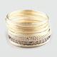 FULL TILT 20 Piece Facet Bead Skinny Bracelets