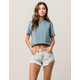 RSQ Vintage High Rise Ripped Womens Denim Shorts