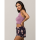 IVY & MAIN Smocked Lavender Womens Halter Top