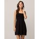 IVY & MAIN Smocked Solid Black Dress