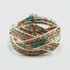 FULL TILT Seed Bead Woven Cuff Bracelet