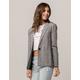 TIMING Plaid Black And White Womens Blazer