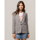 TIMING Plaid Black And Red Womens Blazer