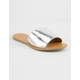 WILD DIVA Simple Silver Womens Sandals