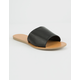 WILD DIVA Simple Black Womens Sandals