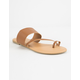 WILD DIVA Toe Ring Tan Womens Sandals