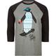 RIOT SOCIETY Tribal Penguin Mens Baseball Tee