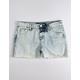 SCISSOR Exposed Pocket Girls Ripped Denim Shorts