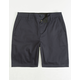 BLUE CROWN Stretch Classic Chino Navy Mens Shorts