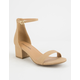 CITY CLASSIFIED Weekend Natural Womens Heeled Sandals