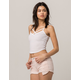 BOZZOLO Ribbed Criss Cross White Womens Crop Tank Top