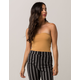 BOZZOLO Gold Womens Tube Top