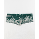FULL TILT Cross Dye Lace Dark Green Boyshorts