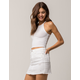 BOZZOLO White High Neck Womens Tank Top