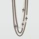 FULL TILT 4 Chain Cross Station Necklace