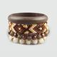 FULL TILT 5 Piece Woven/Bead/Wood Bracelets