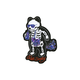 RIOT SOCIETY Skeleton Galaxy Bubbles Sticker