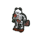 RIOT SOCIETY Skeleton Rose Bubbles Sticker