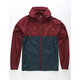 INDEPENDENT TRADING COMPANY Lightweight Maroon & Navy Mens Windbreaker