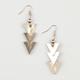 FULL TILT Laddered Triangle Earrings