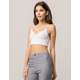 AMBIANCE Cross Front White Womens Crop Cami