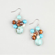 FULL TILT Cluster Turquoise Bead Earrings