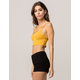 AMBIANCE Cross Front Mustard Womens Crop Cami