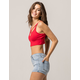 AMBIANCE Cross Front Red Womens Crop Cami