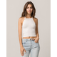 AMBIANCE High Neck White Womens Crop Cami
