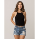 AMBIANCE High Neck Black Womens Crop Cami