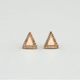 FULL TILT Triangle Epoxy Stud Earrings