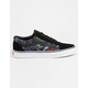 VANS Black Floral Old Skool Mens Shoes