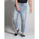 RSQ Straight Crop Mens Ripped Jeans