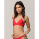 HURLEY Quick Dry Surf Red Bikini Top